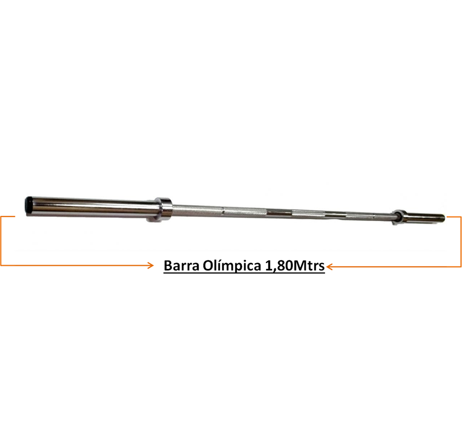 Barra Musculação Olímpica 1,80Mtrs