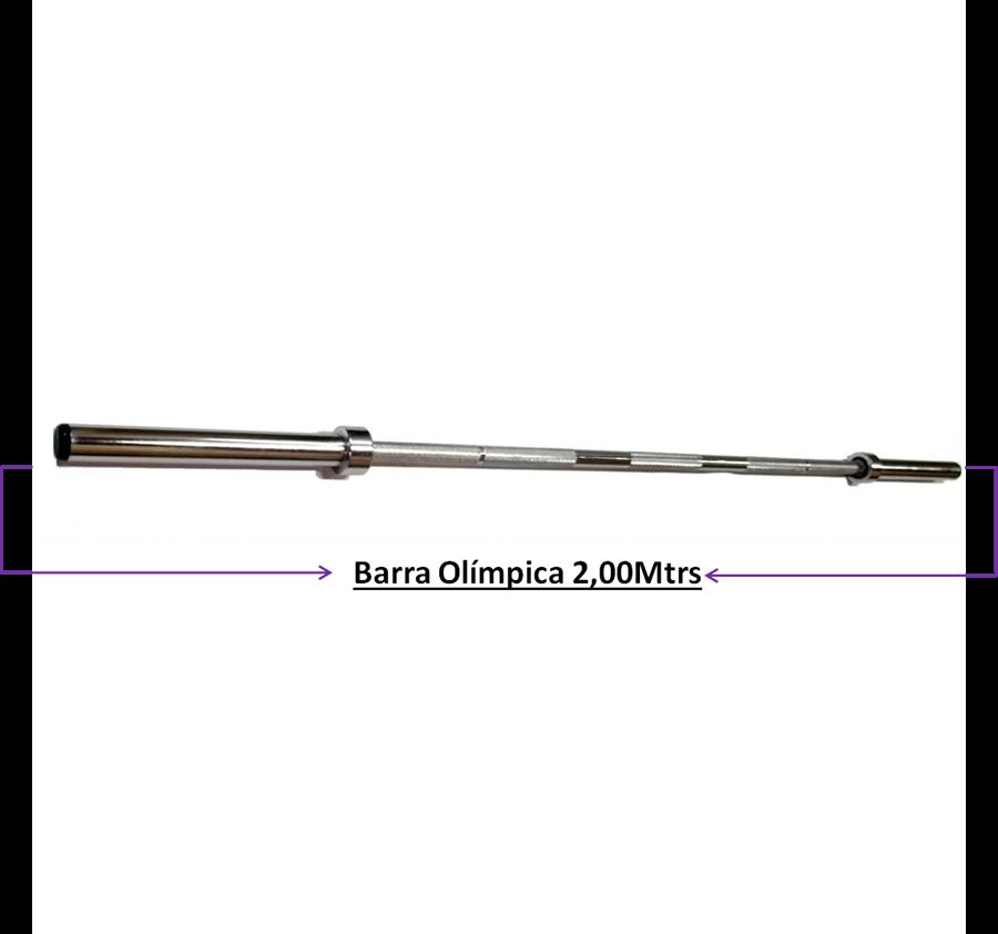 Barra Musculação Olímpica 2,00Mtrs