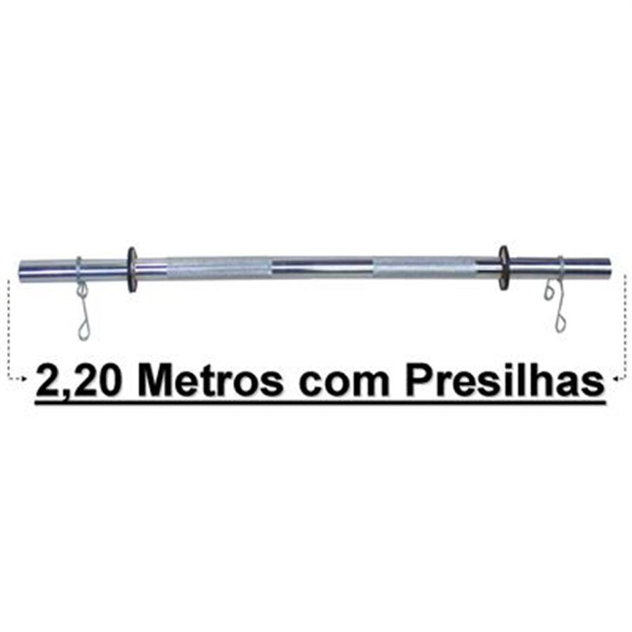 BARRA SUPINO PROFISSIONAL 2,20 GARANTIA 01 ANO