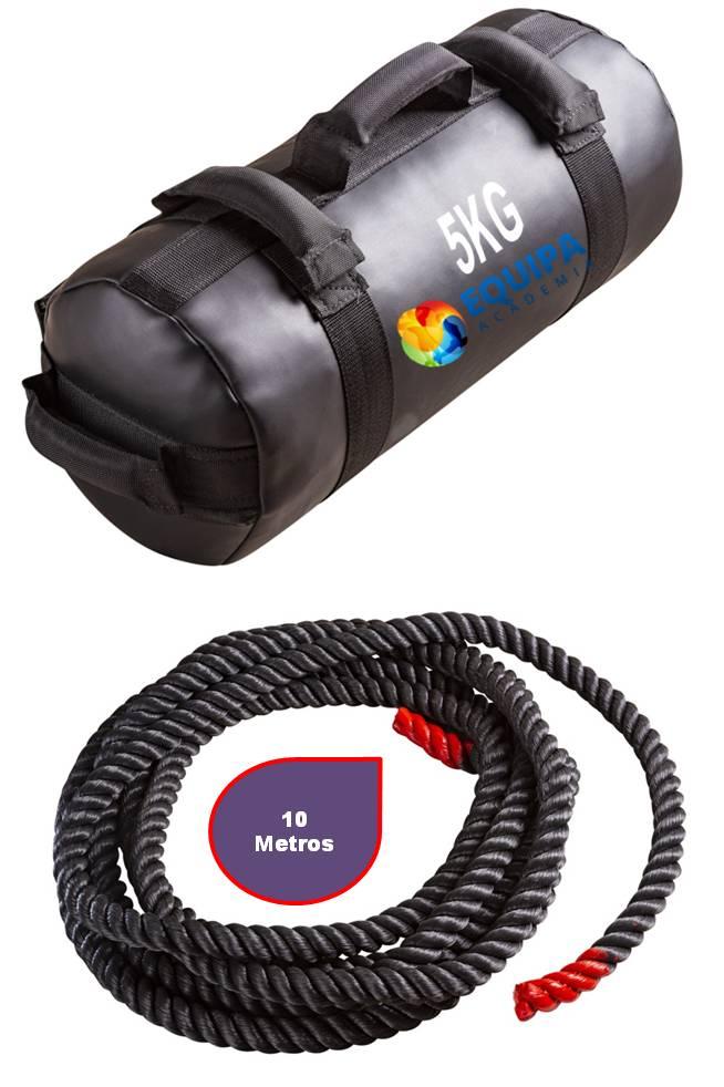 Sand Bag 05kg + Corda Naval 40MM 10Metros