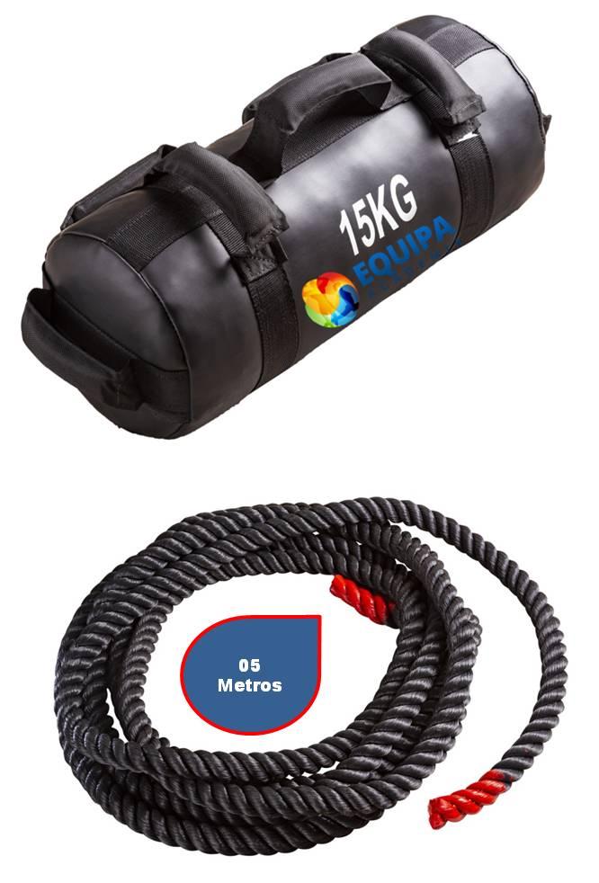 Sand Bag 15kg + Corda Naval 40MM 05Metros