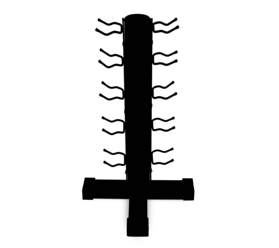Suporte de Halteres em Torre (Capacidade 05 pares)