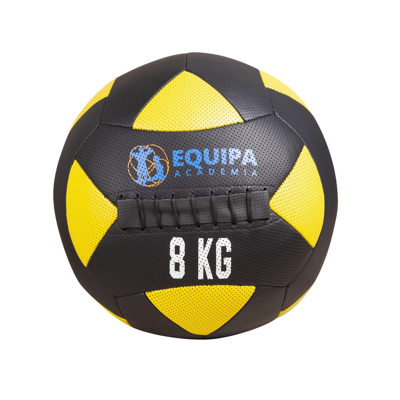 Wall Ball Couro 08KG + Corda Naval 40MM 10Metros