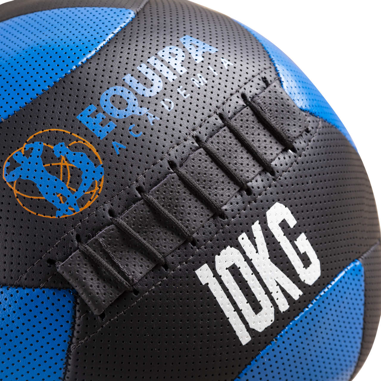Wall Ball Couro 10KG + Corda Naval 40MM 10Metros
