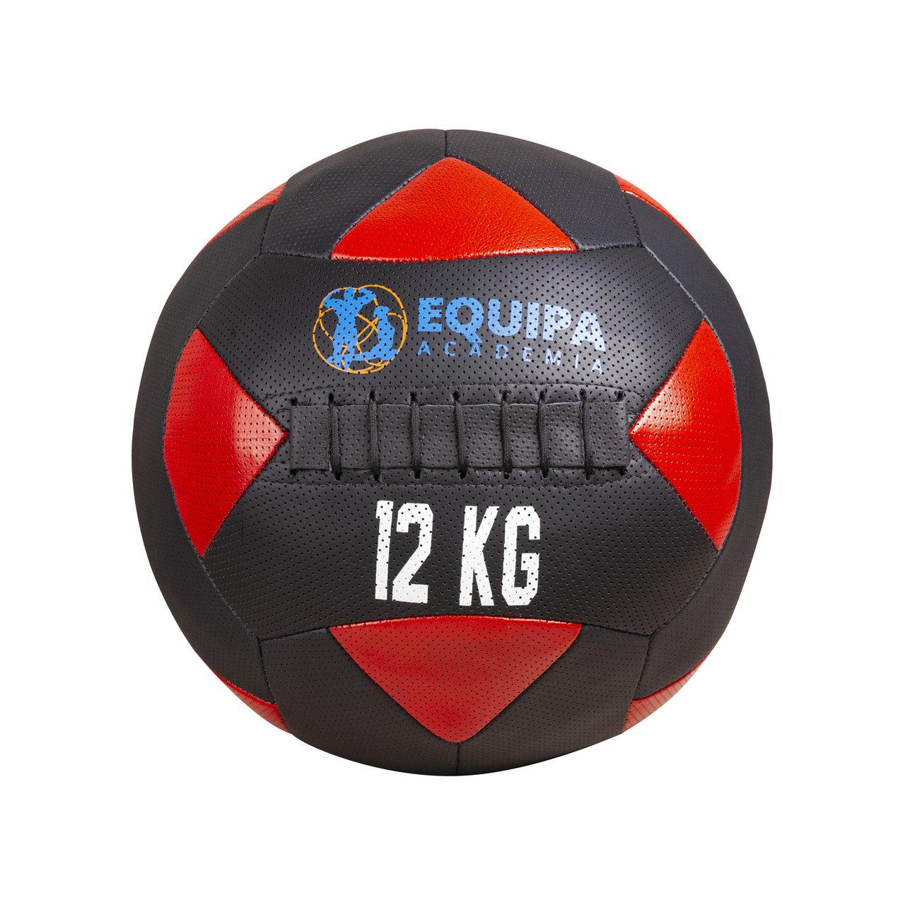 Wall Ball Couro 12KG + Corda Naval 40MM 10Metros