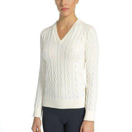 Blusa frio cotton tricô s/costura manga longa lupo