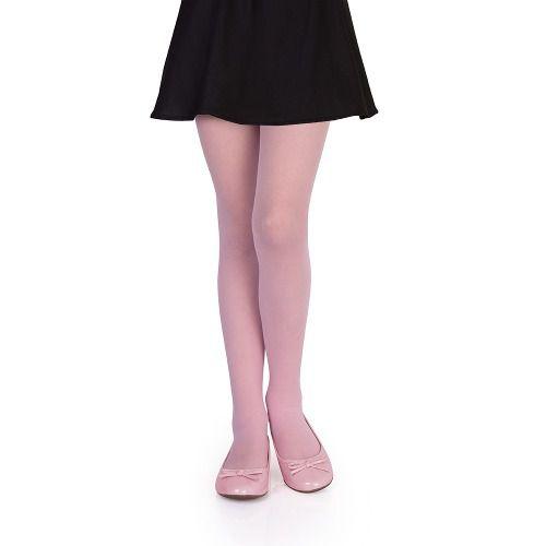 Meia calça infantil fio 20 balé rosa branca lobinha lupo