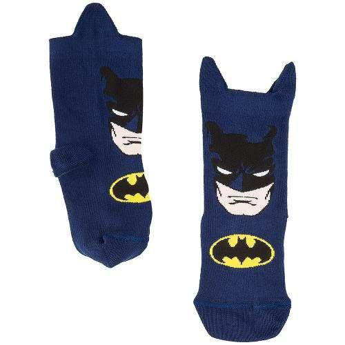 Meia Infantil Batman De Orelhinha Cano 10 Cm Lupo