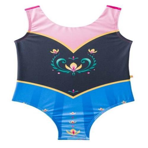 Biquíni maiô frozen ana corpete princesa rosa preto azul