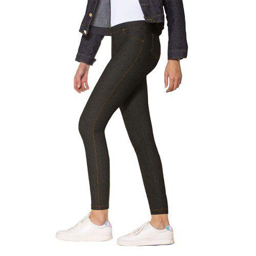 Calça legging jeans super opaca algodão com elastano lupo