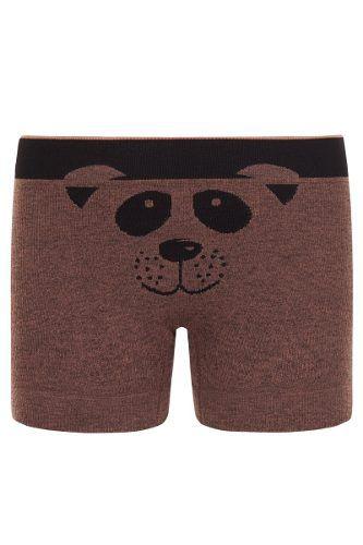 Cueca boxer infantil ursinho menino sem costura lupo
