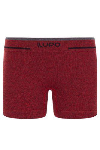 Cueca boxer infantil kids sem costura lisa vermelha lupo