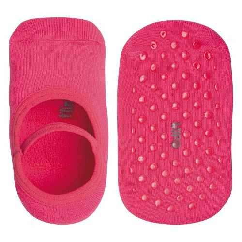 Meia sapatilha infantil lisa antiderrapante cores lupo