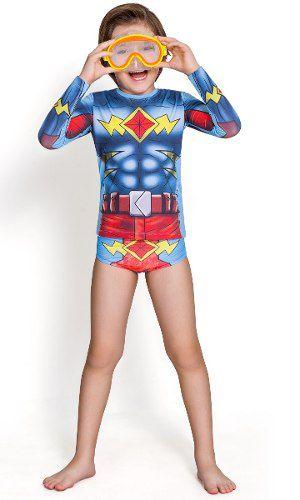 Sunga Criança Personagem Flash Azul Vermelho Marvel