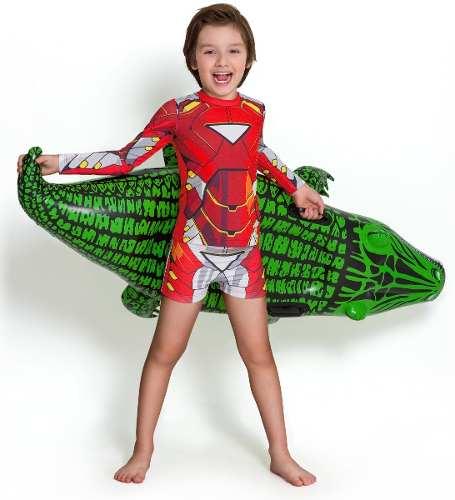 Sunga boxer infantil personagem homem de ferro vermelha