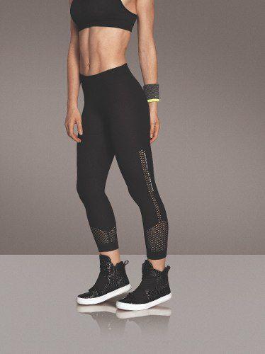Calça capri ginástica fitness arrastão sem costura lupo