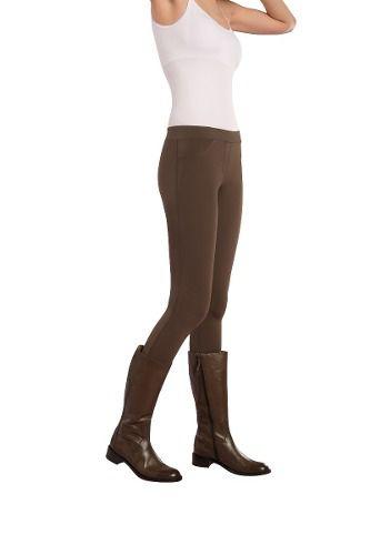 Calça montaria skiny opaca sem bolso cós médio lupo