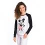Pijama feminino adulto mickey algodão frio mescla