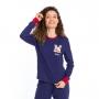 Pijama feminino turma mônica  algodão frio azul