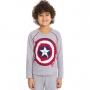 Pijama infantil capitão america algodão frio mesclá