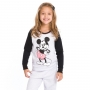 Pijama infantil menina mickey mouse manga longa filha