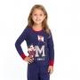 Pijama infantil menina mônica soltando pipa manga longa