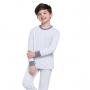 Pijama infantil menino quentinho manga longa liso filho
