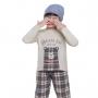Pijama infantil menino xadrez inverno quentinho filho