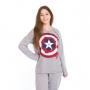 Pijama inverno juvenil menina capitã américa avengers família
