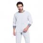 Pijama masculino de inverno gola redonda liso pai
