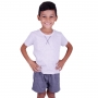 Pijama menino verão infantil blusa manga bermuda mesclá