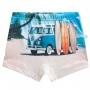 Sunga infantil boxer kombi de surf beira mar proteção solar