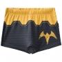 Sunga infantil boxer preta amarela batman piscina praia
