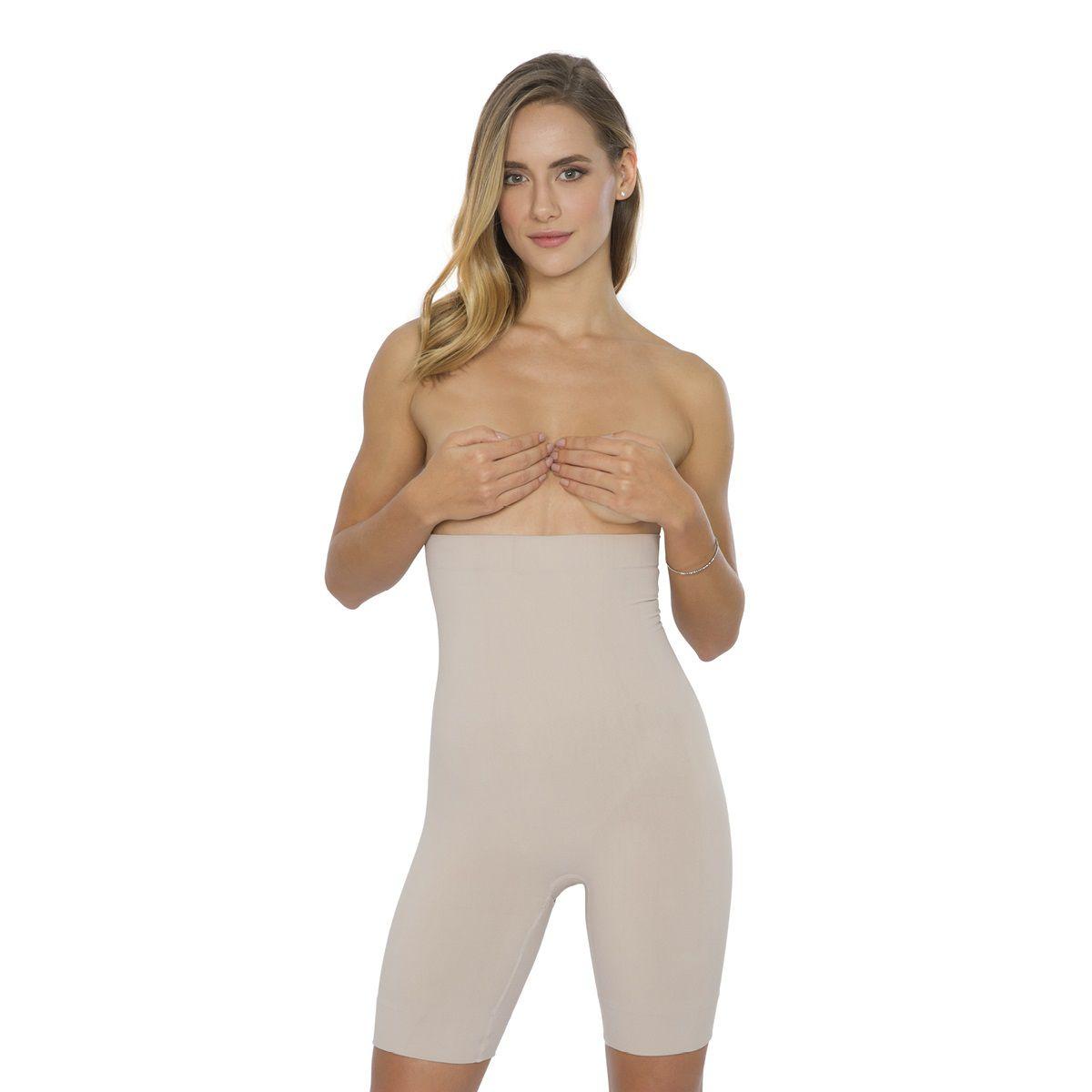 Bermuda cinta cintura alta silicone interno plus size plie
