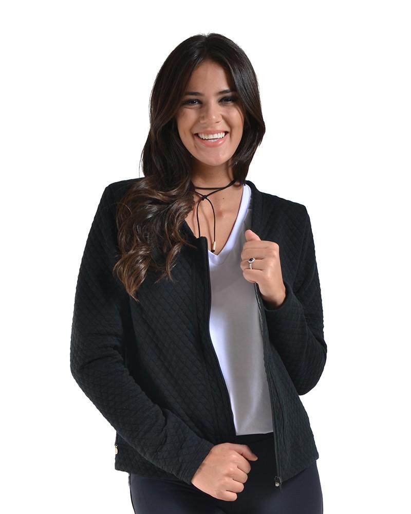 Blusa de frio zíper casaco preto inverno jaqueta metalasse