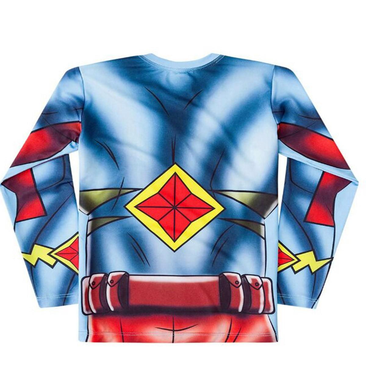 Blusa proteção solar infantil flash personagem marvel