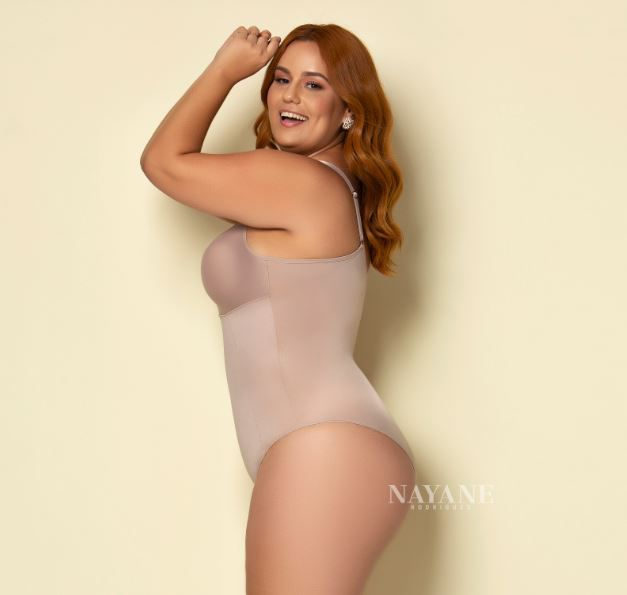 Body compressão plus size sem bojo shape nayane rodrigues