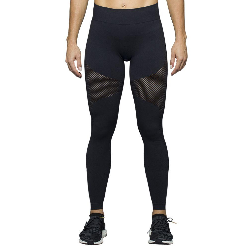 Calça legging arrastão fitness academia yoga lupo sport