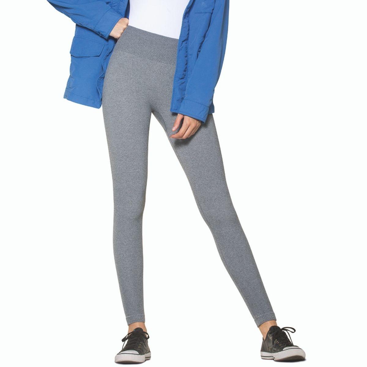 Calça legging sem costura silicone interno fio 150 lupo