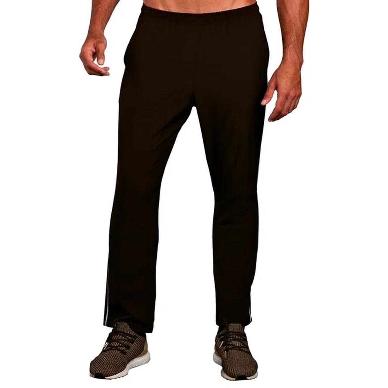 Calça tactel masculina sem punho esportiva academia bolso