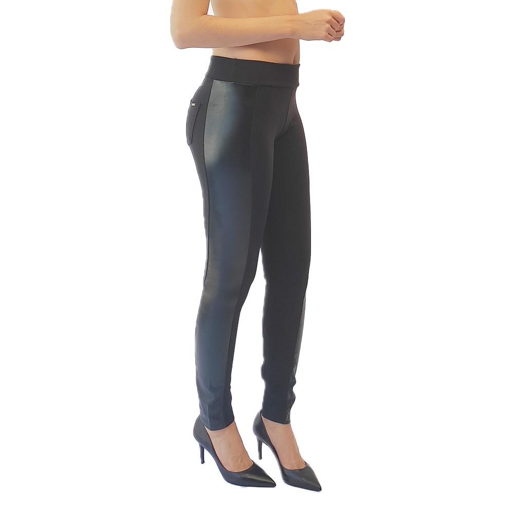 Calça skinny feminina montaria detalhe cire plus size