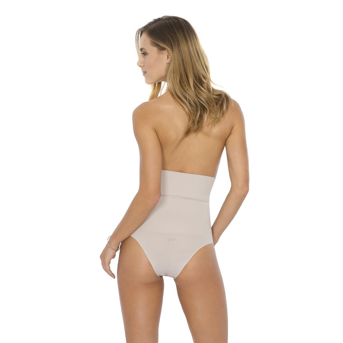Calcinha cavada cintura alta com compressão Plie