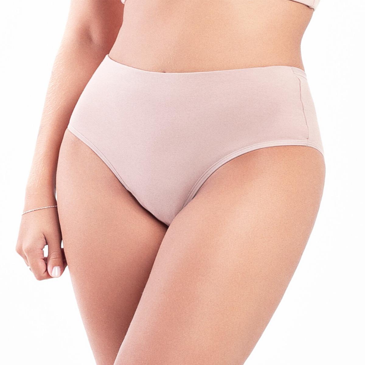 Calcinha cintura alta frente dupla compressão econfort