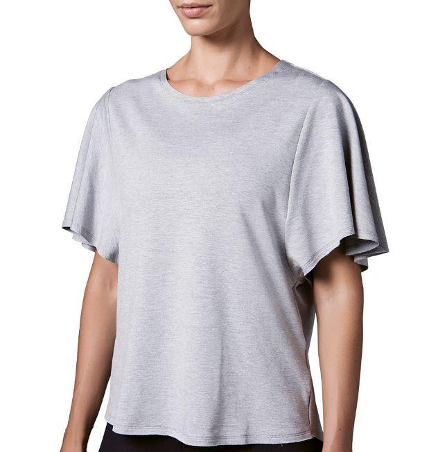 Camiseta academia feminina casual pilates mescla lupo