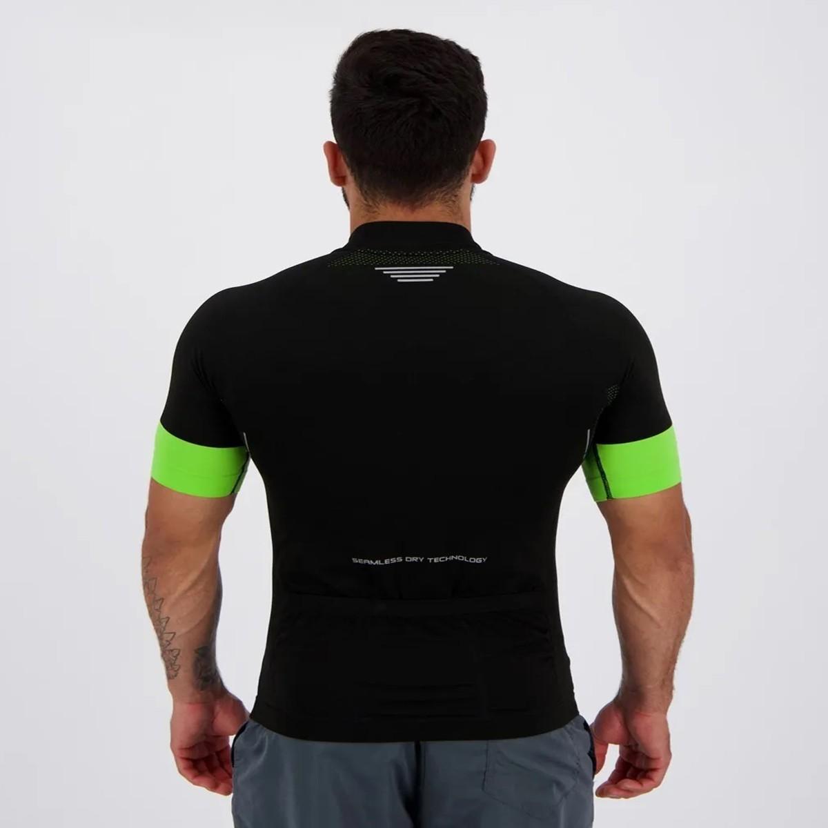 Camiseta ciclimo masculina bolso nas costas com 3 partes