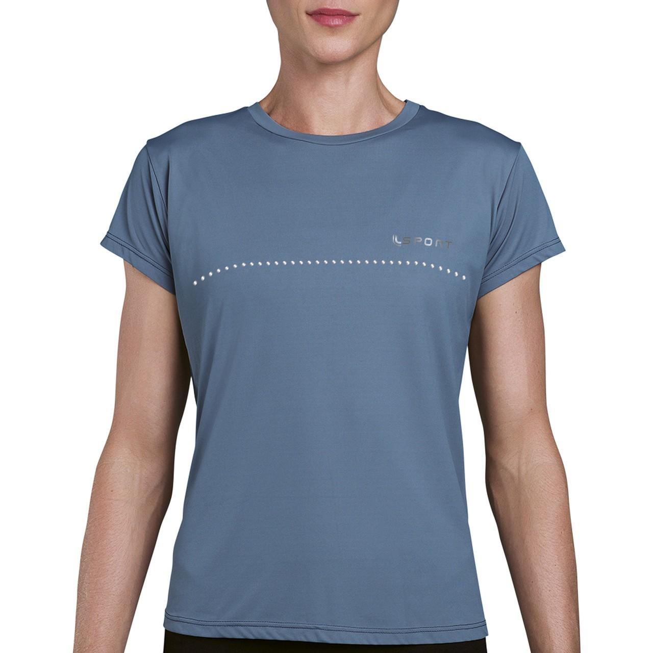 Camiseta sportiva basica feminina academia caminhada lupo