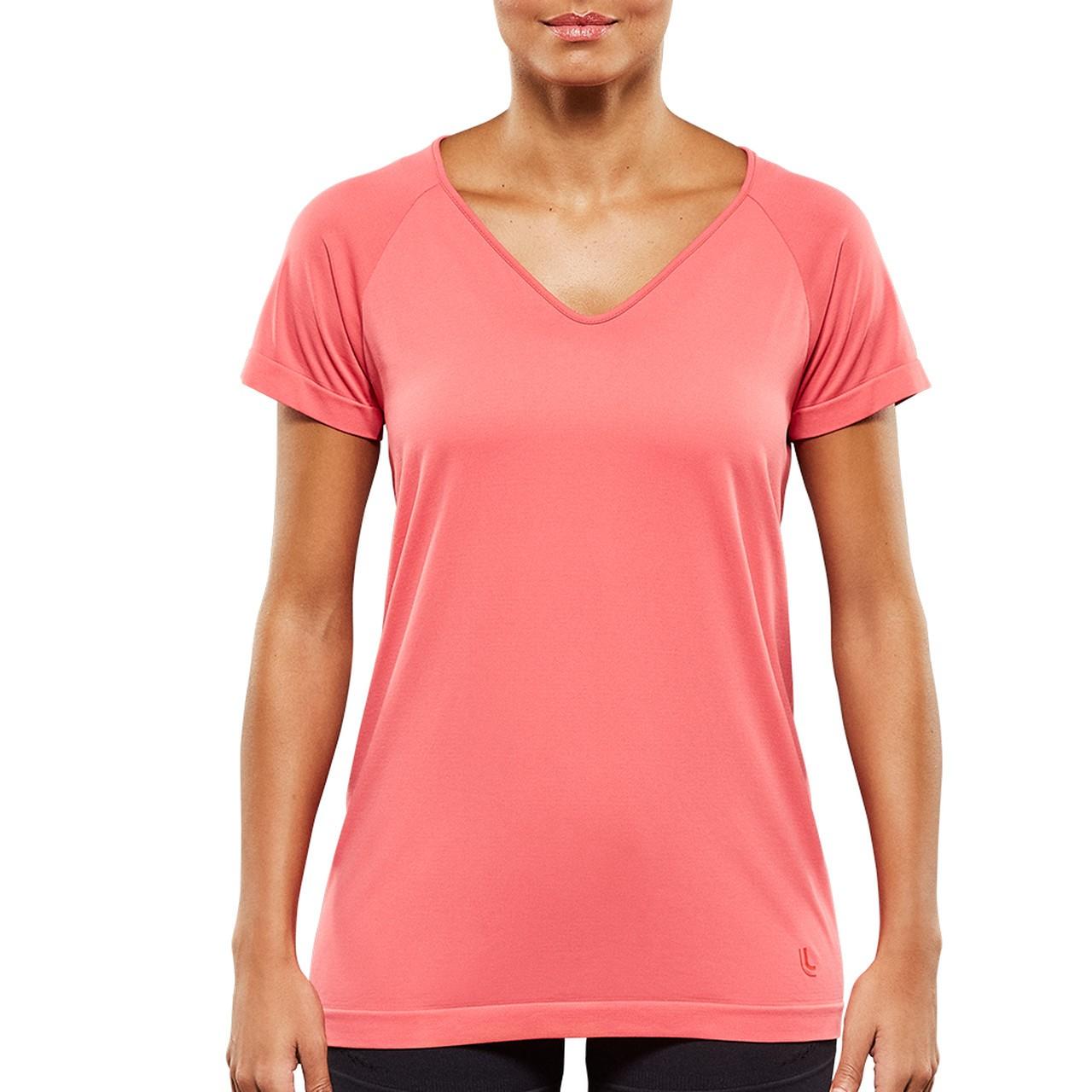 Camiseta feminina T-shirt antiviral comfortable fitness academia