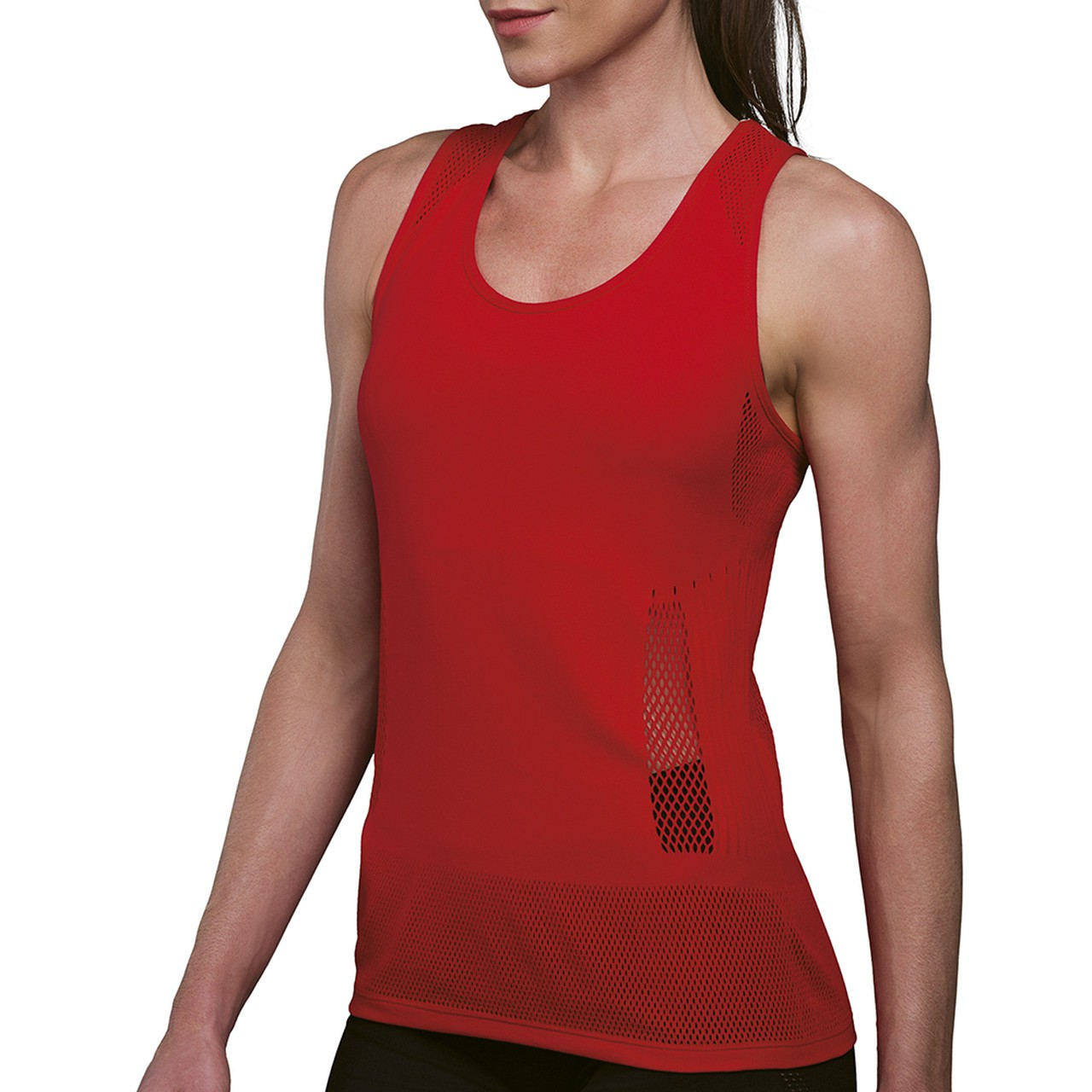 Camiseta regata feminina caminhada sem costura nadador