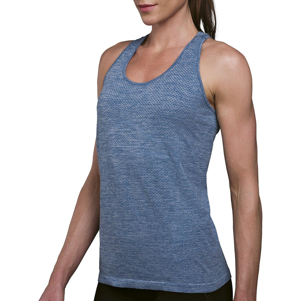 Camiseta regata para mulher Nassau sem costura fresquinha