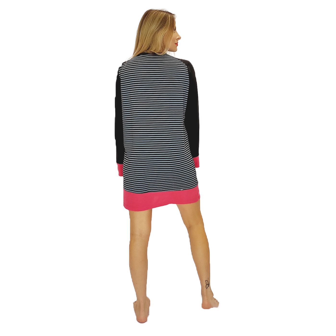 Camisola camisão manga longa listrada